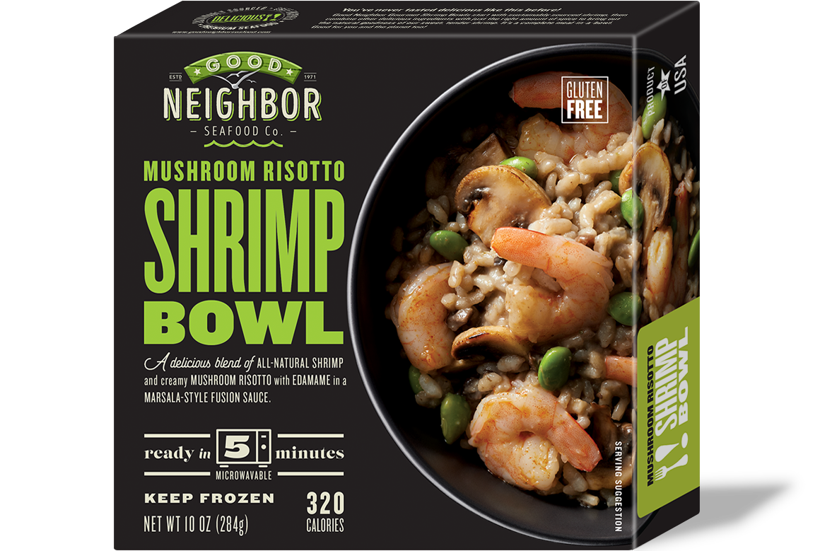 10 oz. Mushroom Risotto Shrimp Bowl — Gluten Free