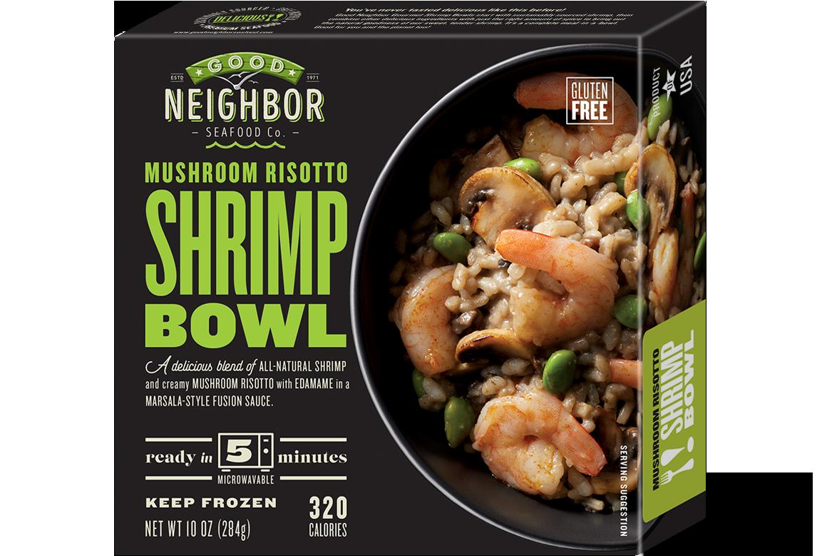 10 oz. Mushroom Risotto Shrimp Bowl — Gluten Free