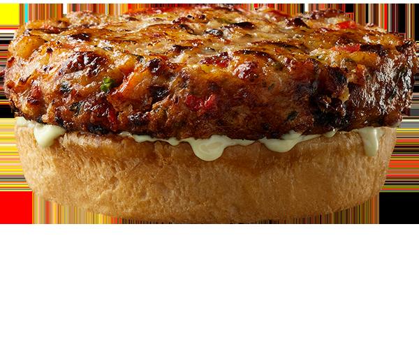 BIG, BOLD, DELICIOUS — Original Naked, Bacon Cheddar, Southwest, and Sweet & Smoky shrimp burgers!