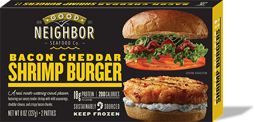 Good Neighbor Seafood Co. — Bacon Cheddar Shrimp Burger