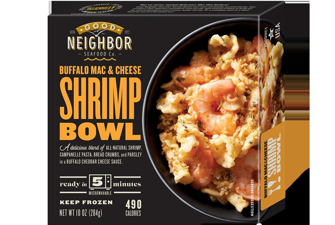 10 oz. Buffalo Mac & Cheese Shrimp Bowl