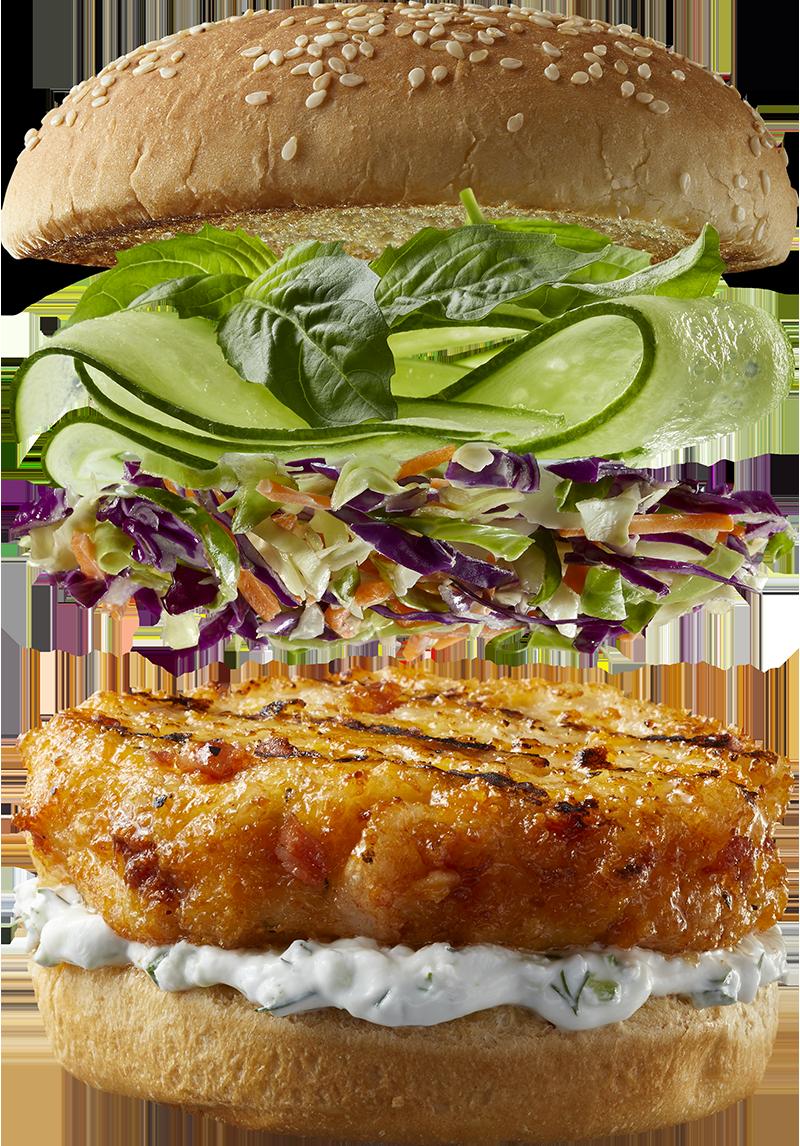 """The """"Slawsome"""" Gourmet Shrimp Burger"""