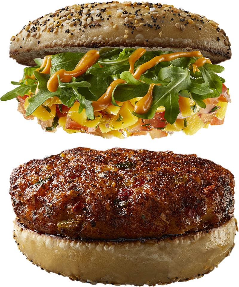 "The ""Loaded"" Gourmet Shrimp Burger"