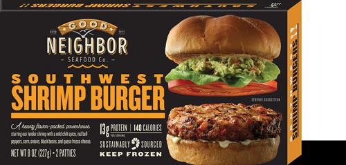 "Gourmet ""Southwest"" Shrimp Burger"